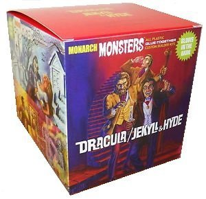 Monarch Monsters Dracula Jekyll & Hyde 1:13 Scale Model Kits Glow Parts - RARE! from Monarch