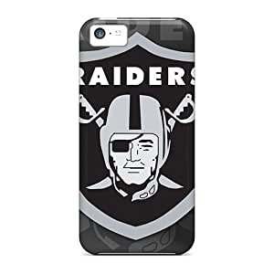Iphone 5c Case, Premium Protective Case With Awesome Look - Oakland Raiders