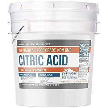 Amazon.com: Citric Acid Powder - Fine Granular - 100% Pure ...