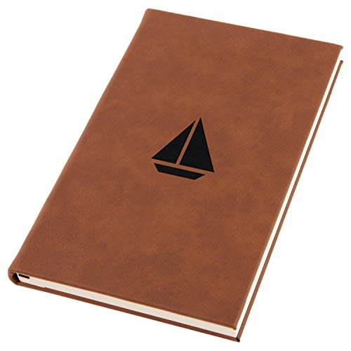 Sailboat Engraved A5 Leather Journal, Notebook, Personal Diary