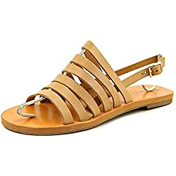 BC Footwear Women's Teacup Dress Sandal, Tan, 6 M US