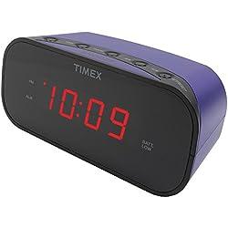 TIMEX T121U Alarm Clock with .7 Red Display (Purple)
