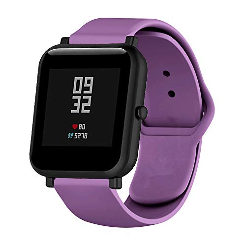 MLQSS 18mm 20mm 22mm Width Soft Silicone Smart Watch Bands,Quick Release Straps Compatible with Samsung Gear Sport,Adjustable Wrist Band for Ticwatch/Pebble/Huawei/Amazfit Pace Standard SmartWatch