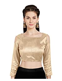 Women's Art Silk Readymade Saree Blouse Choli Cold Shoulder Mirchi Fashion Top