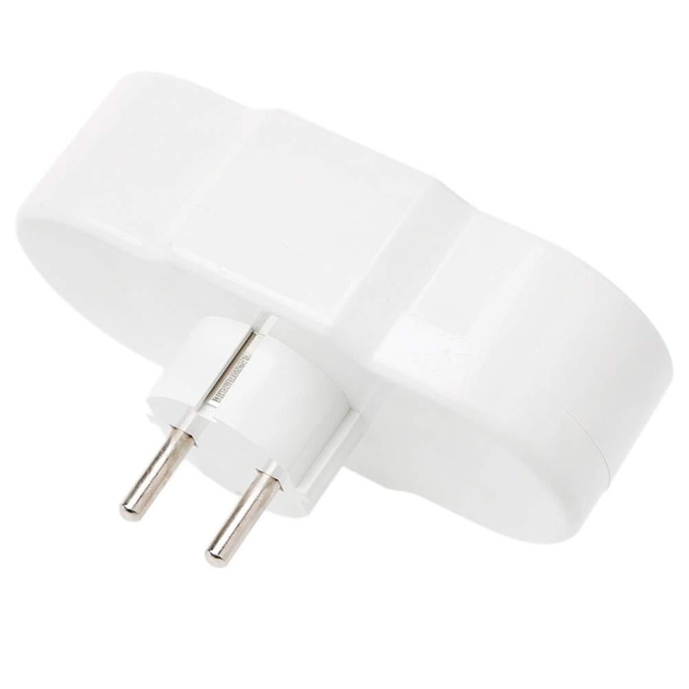 Sichere Haltbare Socket White Doyime Tragbare Steckdose Stecker 1 bis 4-Fach EU Typ Konvertierung,Netzteil f/ür den Au?enbereich