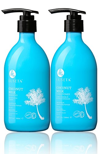 Luseta Coconut Milk Shampoo & Conditioner Set, Nourishing & Moisturizing Hair, 2 x 16.9 Oz(New Package)