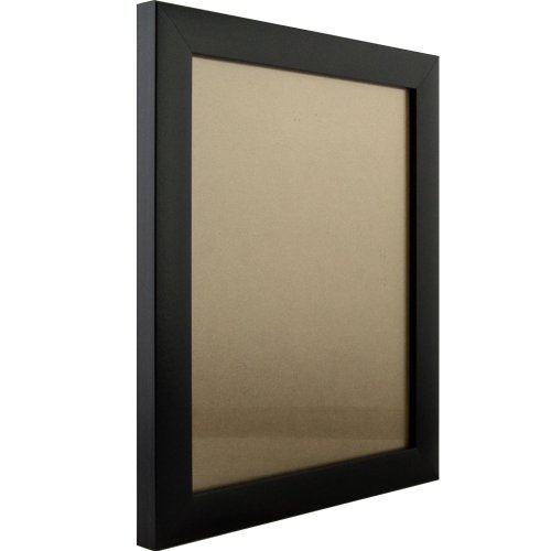 Craig Frames 1WB3BK 11 by 17-Inch Picture Frame, Smooth Wrap Finish, 1-Inch Wide, Black