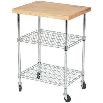 Amazon Com 2 Tier Kitchen Island Cart With 26 Quot Deep X 34