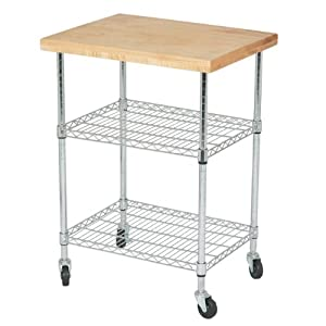Amazon.com - 3 Tier Kitchen Island Cart with 20