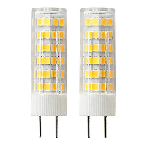 G8 LED Bulbs 6 Watt 550LM Haloeng Bulb Equivalent 50W AC110V-120V Warm White 3000K Dimmable (Pack of 2)