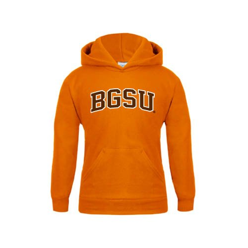 Bowling Green State Youth Orange Fleece Hoodie Arched BGSU