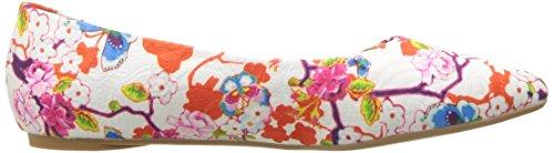 Floral Flat Aaron Loves Women's Ballet White Penny Kenny SF 6PY7wqxf8f