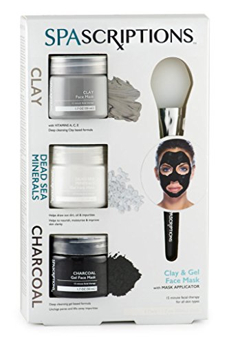 SPAScriptions Clay, Dead Sea Minerals & Charcoal Gel Face Ma
