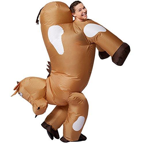 dressforfun Disfraz de Caballo Inflable Adulto | Funciona con Pilas | Máxima Libertad de Movimiento: Amazon.es: Ropa y accesorios