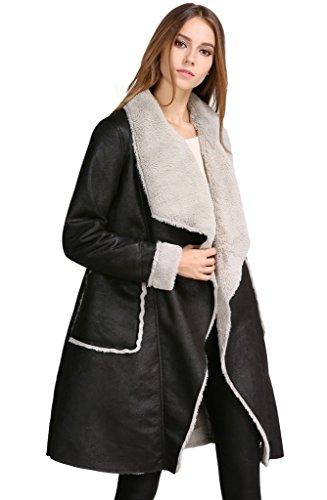 Roseate Womens Lapel Winter Jacket