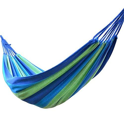 (Yoilsntsg Portable Hammock Outdoor Hammock Garden Sports Home Travel Camping Swing Canvas Stripe Hang Bed Hammock 02)