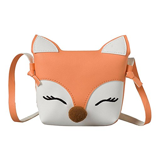 Bags Fox Crossbody Everpert Wallet Baby Handbags Girls Flap Kids Mini Cute Pink Shoulder gP6Pwq5