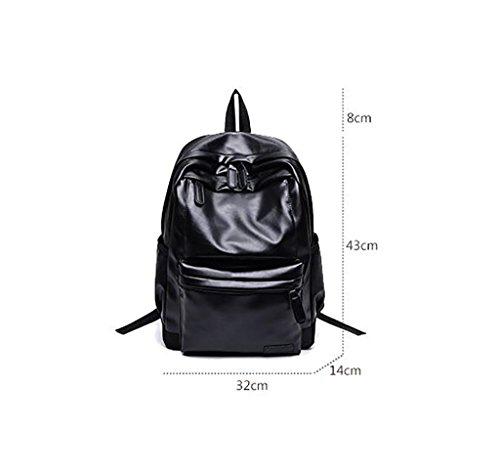 bolso de cuero suave / mujer de gran capacidad mochila ocasional ( Color : Marrón ) Marrón