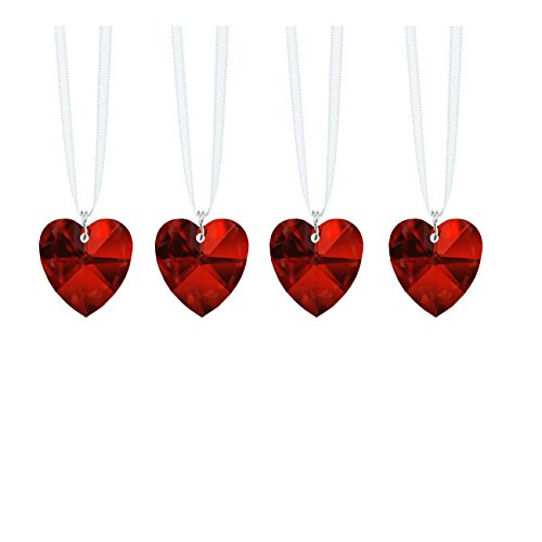 - Swarovski Strass Prisms 4 Pcs Crystal Bordeaux Red Heart Prism SunCatcher Ornaments Package Deal