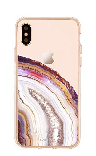 Casery iPhone X/Xs Case, Dusty Agate (Exotic Marble) - Military Grade Protection - Drop Tested - Protective Slim Clear Case for Apple iPhone X, XS ()