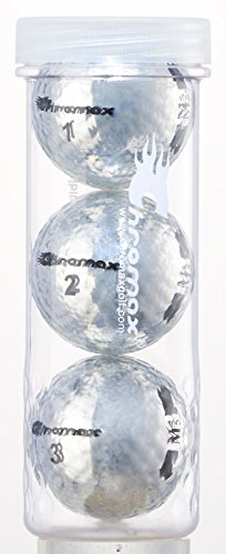 Chromax Metallic M5 Colored Golf Balls (3 Pack Tube), Silver