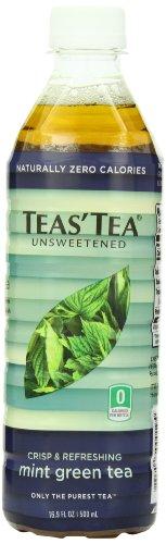 Teas' Tea Unsweetened Mint Green Tea, 16.9 Ounce (Pack of
