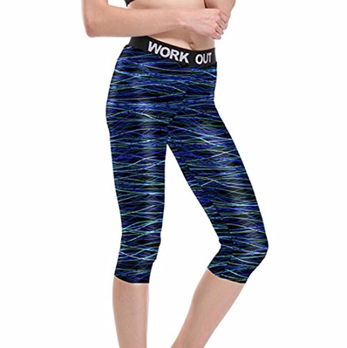 Women's Compression Profession Yoga Fitness Trousers Blue