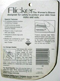 Vintage Flicker Womens Shaver 5 Blades (2 Pack) by Flicker