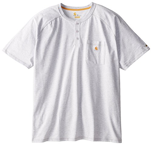 Carhartt Mens Big & Tall Force Cotton Short Sleeve Henley Relaxed Fit