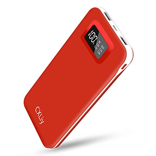 Power Bank Portable Charger USB C Battery Pack High Capacity 24000mAh Phone Charger Dual Output 2 Input Ports External Battery LCD Display Compatible with Smart Phones, Tablets and More Android Device