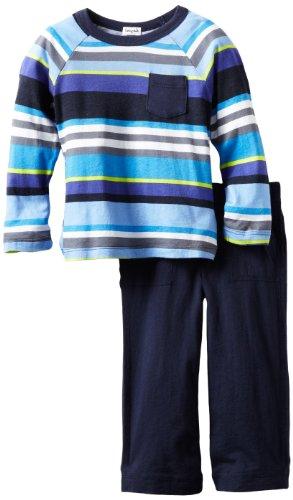 Splendid Littles Little Boys' Pensacola Stripe Raglan Set, Wave Jumper, 2T by Splendid (Image #1)