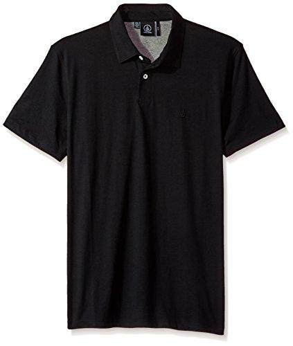 (Volcom Men's Wowzer Polo Shirt, Black 1, Small)