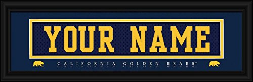 Laminated Visuals California Golden Bears - Personalized Jersey Nameplate - Framed Poster Print