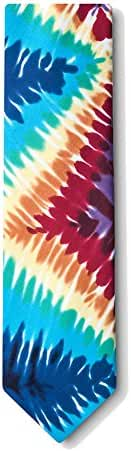 Men's Multi Color Groovy Tie Dye Retro Necktie Tie Neckwear