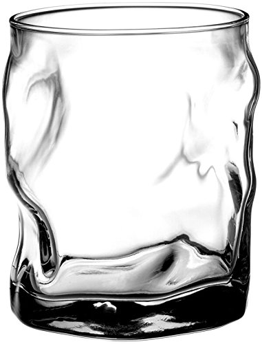 Bormioli Rocco Sorgente Double Old Fashioned Glasses, Set of 4,14.25 ounces