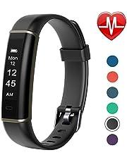 Letsfit Fitness Armband mit Pulsmesser, Fitness Armbanduhr Pulsuhren Schrittzähler IP67 Wasserdicht Smartwatch für Herren Damen und Kinder MEHRWEG