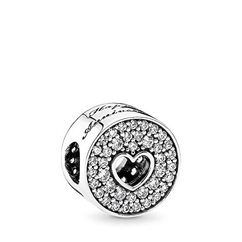 PANDORA Anniversary Celebration Charm, Sterling Silver, Clear Cubic Zirconia, One Size