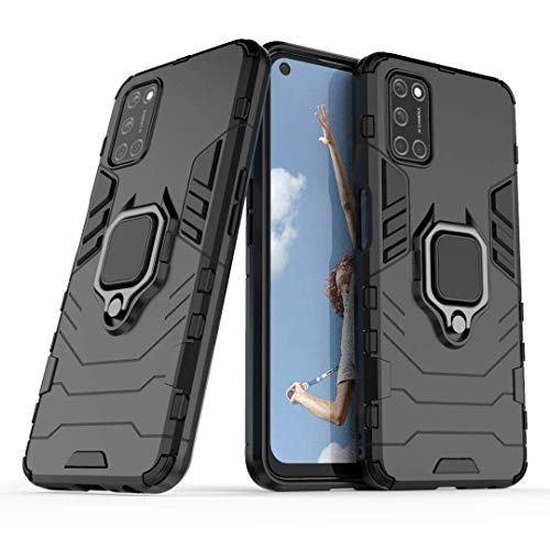 Lantier 360 Degree Rotation Durable Armor Ring Kickstand Holder and Full Protective Shockproof Case for Oppo A52 A72 A92…