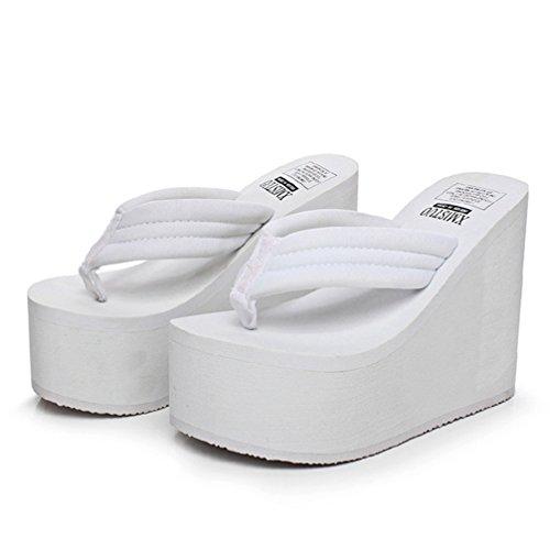 JITIAN Femmes l'extérieur Sandales Plage d'été de Blanc String Les Haut Anti Flip Flops Forme Plate Mode de Extreme Coin Slip rSwrP4q5