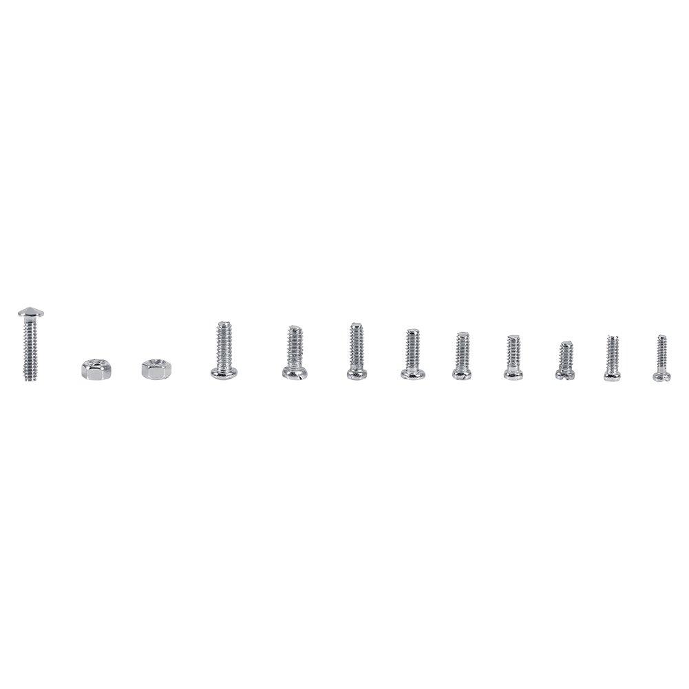 600 piezas 12 tipos de tornillos de cabeza plana pequeños con kits de surtido de tuercas para relojes o aparatos eléctricos Sujetadores (tamaño M1 M1.2 M1.4 ...