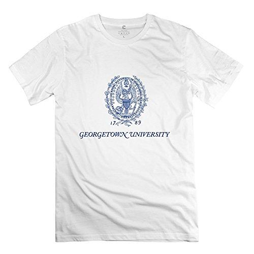 White Men's Georgetown XX-Large Round Neck T Shirt