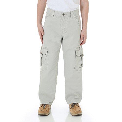Wrangler Boys cargo pants with adjustable waistband Khaki (Childrens Cargo Pants)