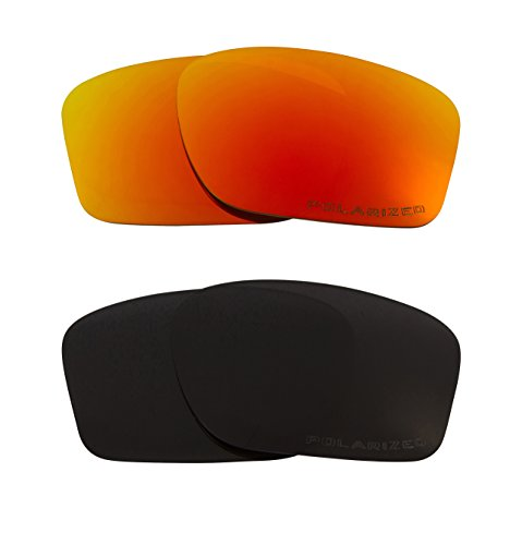New SEEK Replacement Lenses Oakley CHAINLINK - Polarized Black Red (Chainlink Lenses)