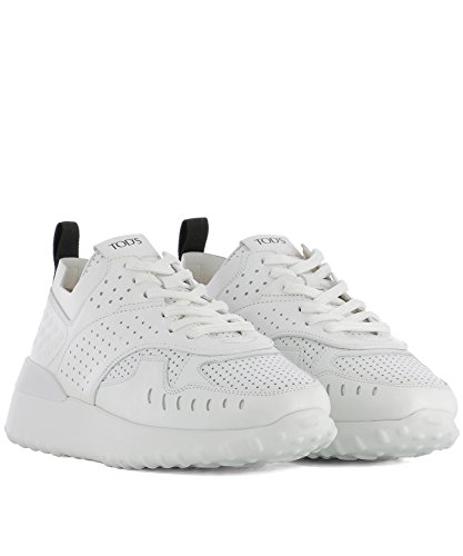 Tod's Pelle XXW80A0W590JUSB001 Donna Sneakers Bianco pxqwpvFf