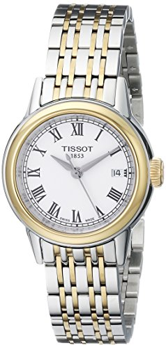 Tissot Women s T0852102201300 Carson Analog Display Swiss Quartz Two Tone Watch