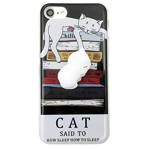 iPhone 6 / 6s Plus Case, Tricess 3D Cute Soft Silicone Squishy Cat Phone Case for iPhone 6 / 6s Plus