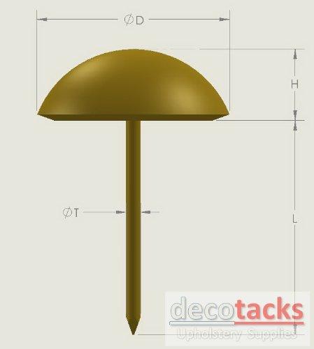 decotacks Silver Finish Upholstery Nails/tacks 3/4'' - 100 Pcs [Nickel/Silver Finish] DX0518 by decotacks (Image #2)