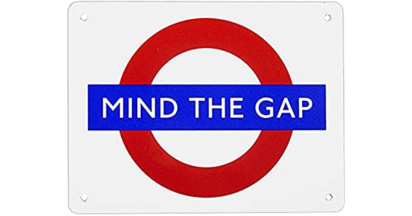 Amazon.com: Mind The Gap London Underground Roundel pequeñas ...