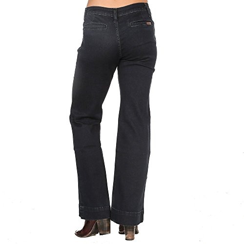 Wide Leg Mid Rise Jeans (Wrangler Women's Retro Mae Mid Rise Stretch Wide Leg Jean, Dark Blue, 1X36)