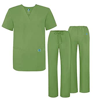 Adar Universal Medical Scrubs Set Medical Uniforms - Unisex Fit - 701 - ASP -XXS
